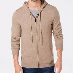 Tasso Elba Men's 100% Cashmere Zip Up Sweater 3xl